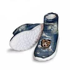 Cat Design Shoes And Boots For Women