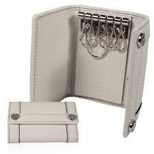gucci keychain wallet. gucci 6 key holder leather designer chain white 233039 (ggwal2520) keychain wallet