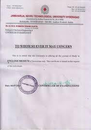 Regional Passport Office Issues Jntu Moi Certificate