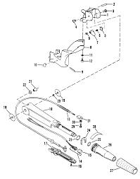 Mercury mariner mercury sears 9 9 h p 1995 225 581987 steering handle twist grip throttle