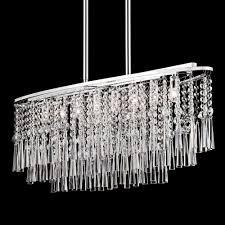 8 light oval crystal polished chrome pendant chandelier 36 ceiling lights