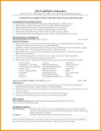 Medical Technologist Sample Resume Best of Nuclear Medicine Technologist Resume Medical Technologist Resume