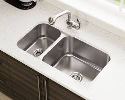 3218br offset double bowl undermount stainless steel sink 4 88 8 reviews 3218br