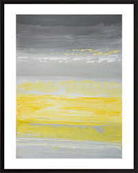 set of two original painting abstract diptych painting yellow gray white painting on paper wall art  on set of two framed wall art with set of two original painting abstract diptych painting yellow gray