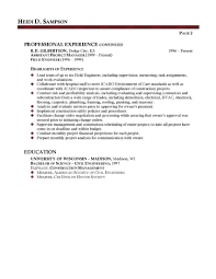 Facilities Manager Professional Resume Sample Business Planning