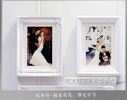 6 pcs set luxury classic vintage photo wall frames real wood white picture frame wall decor home decoration for wedding photos