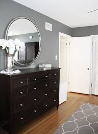 bedroom wall furniture. benjamin moore amherst gray in this bedroom with a and white patterned rug wall furniture f