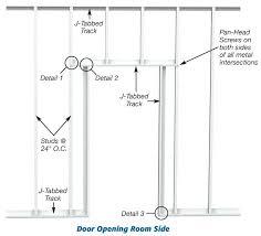 metal framing header detail. Simple Framing Construction Details Building Systems Door Opening Framing  Header Sizes On Metal Framing Header Detail