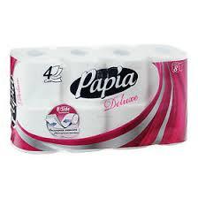 <b>Papia Deluxe Туалетная бумага</b> белая четырёхслойная, 8шт ...