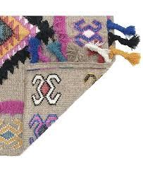 wool print rug a aztec outdoor