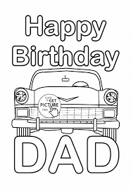 Small Picture Happy Dad Birthday Coloring Pages Birthday Daddy Coloring Page For