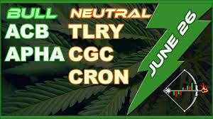 Isol Stock Chart Marijuana Stocks Cgc Weed Acb Cron Apha Tlry Cannabis Mj Chart Analysis For Today June 26 2019