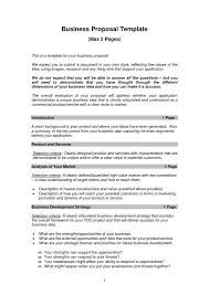 example of a business plan proposal format business proposal templates examples business