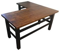 office desk l. the brooklyn industrial office desk l shape transitionaldesksandhutches d
