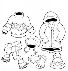 Coloring Book With Winter Clothes Coloring