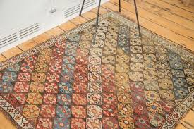 architecture and home glamorous 4x4 rug in extremely square rugs 5 distressed antique shirvan 4x4
