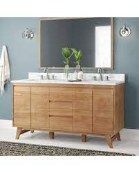 Deals For Fiona 61 Double Bathroom Vanity Langley Street Base Finish Natural Teak
