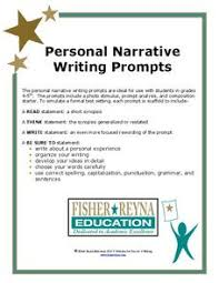 Personal Narrative Writing Prompts Writing Prompt For 4th 6th