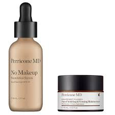 perricone md no makeup serum jumbo size spf 30 and face finishing firming moisturizer bundle