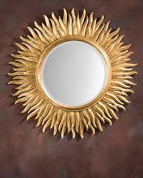 gold sunburst mirror. Mirror - Round Sunburst In Gold Leaf