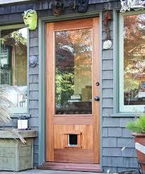 exterior back door with dog door. exterior back door with dog h