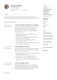Sample It Project Manager Resumes Project Manager Resumee Engineering Midlevel Sample For