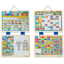 Melissa Doug Kids Magnetic Calendar And Responsibility Chart Set With 120 Magnets To Track Schedules Tasks And Behaviors