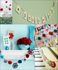 Room Decorating With Paper Christmas Wall Decorations For A Living Room Made From Paper
