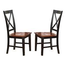 Kingston oak black side chair set of 2