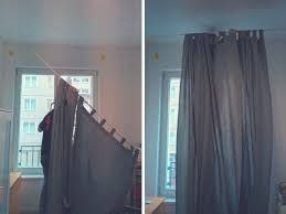 hang curtains without drilling put curtains pole