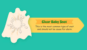 clear is the most mon type of snot and should not be any cause for alarm this typical snot color could simply be your baby s natural way of removing