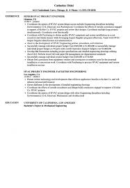 Hvac Resume Samples Hvac Project Engineer Resume Samples Velvet Jobs Examples S Sevte 32