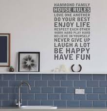 personalised house rules wall sticker