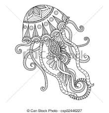jellyfish coloring page csp32446227