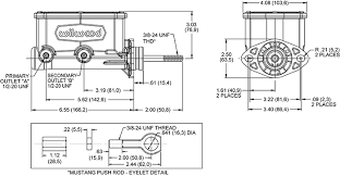 Master Cylinder Bore Size For Manual Brakes