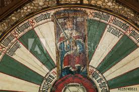 detail of king arthur s round table in winchester