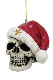 Details Zu Totenkopf Weihnachtskugel Santa Is Dead Skull Christbaumkugel Fantasy Gothic