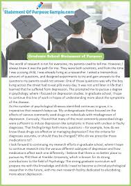 Statement Of Purpose Graduate School Example Get Graduate School Statement Of Purpose Sample