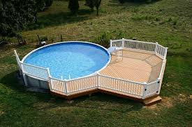 Wood Pool Deck Above Ground Pool Deck Ideas From Wood For Relaxation Area At Home