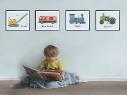boys room decor set of 4 prints toddlers by littlegrippers 22 best images about jack on pinterest thomas the train removable on toddler boy room wall art with truck decor for toddler room home decorating ideas