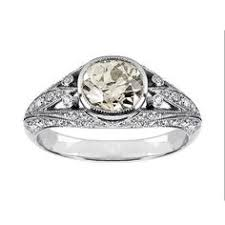 edwardian diamond set solire ring in platinum birksglamcannes solire setting solire ring