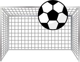 無料イラスト ゴールネットとサッカーボール パブリックドメインq