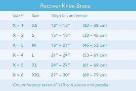 Breg Knee Brace Size Chart Recover Knee Brace Breg Inc