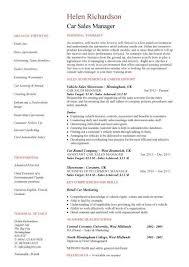 auto sales resume samples