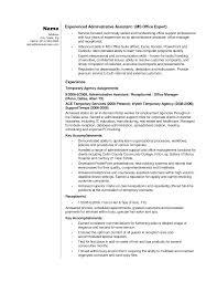 Temporary Agency Resume Sample Najmlaemah Com