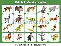 wild animals chart. Simple Animals Wild Animal Chart  Csp35268879 And Wild Animals Chart