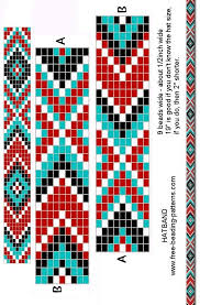 Free Beading Patterns Gorgeous Free Printable Loom Beading Patterns Loom Beading Bracelet Pattern