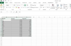 Monthly Income Chart How To Make A Chart Or Graph In Excel