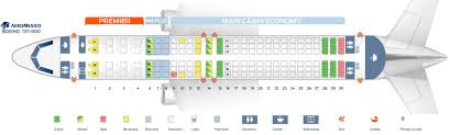 Sunwing 737 800 Seating Chart 737 800 Seat Map Color 2018