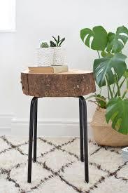 wood slice side table